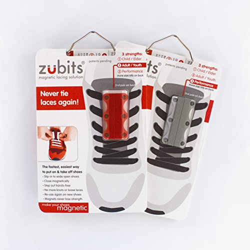 Zubits Magnetic Lacing Solution, Never Tie Laces Again, Grey - #1 - Kids by Zubits (Image #7)