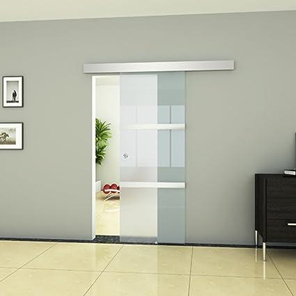 Festnight Puerta Corrediza - Material de Vidrio y Aluminio y Acero ...