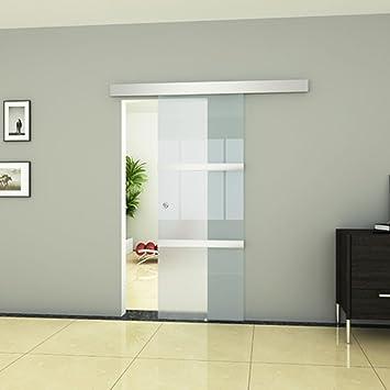Anself Schiebetür aus Glas 2050 x 750 mm: Amazon.de: Küche & Haushalt