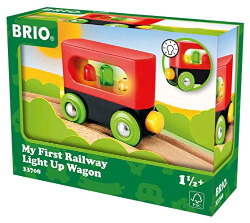 My First Railway Light Up Wagon - Wooden Toys - Ravensburger - ()