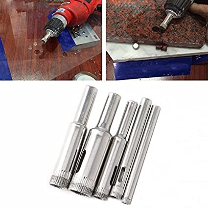 Generic 5Pcs Diamond Hole Saw Drill Bits Set Tile Ceramic Cutter Glass Marble 5mm-12mm