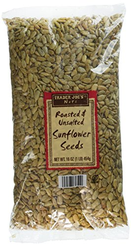 2 Pack Trader Joe's Roasted & Unsalted Sunflower Seeds