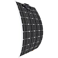 Giosolar 100W 12V Flexible Solar Panel High Efficiency Monocrystalline Solar PV Panel for Motorhome, Caravan, Camper, Boat/Yacht