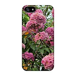 Awesome Design Rosy Trumpet Tree Hard Case Cover For Iphone 5/5s