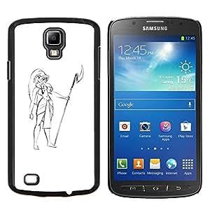 "Be-Star Único Patrón Plástico Duro Fundas Cover Cubre Hard Case Cover Para Samsung i9295 Galaxy S4 Active / i537 (NOT S4) ( Muchacha de Hawaii Vestimenta Lanza Beach Art Dibujo"" )"