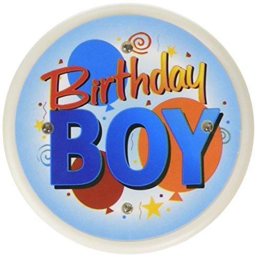 Beistle FB12 Birthday Boy Flashing Button, (Boys Boutonniere)