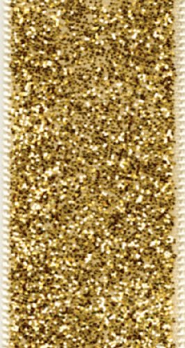 Entertaining with Caspari Wired Ribbon with Gold Glitter