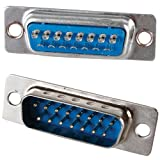 15-Pin Male D-Sub 2 Row Chassis Mount Solder
