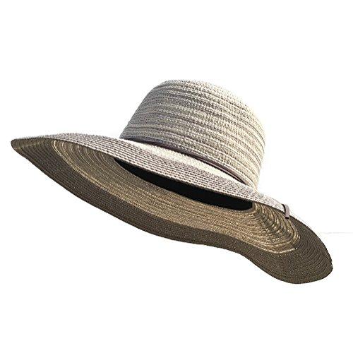 E.Joy Online Womens Floppy Summer Sun Straw Hats Beach Accessories Large Brim UV Foldable 56-58cm Medium - Online Panama Shopping