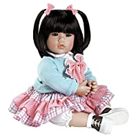 """Adora Toddler Smart Cookie 20"""" Girl Weighted Doll Gift Set for Children 6+ Huggable Vinyl Cuddly Snuggle Soft BodyToy"""
