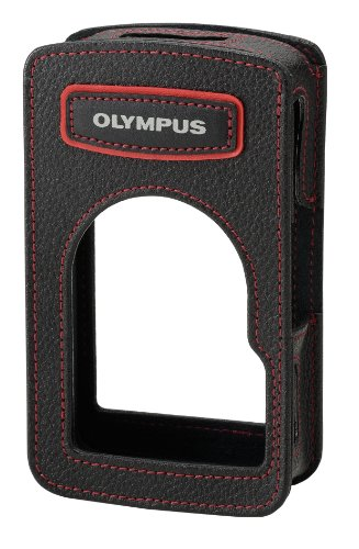 Olympus CSCH-109 Leather Body Jacket for TG‑Series, Black
