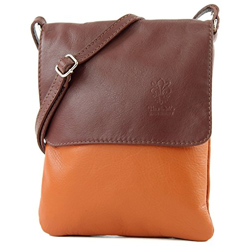 leather de Camel Brown bag T ital shoulder modamoda Messenger ladies small bag 34 6EqROPwdx