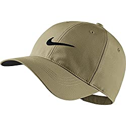 Nike Mens Golf Legacy91 Tech Adjustable Hat ( Color:khaki Anthracite White)