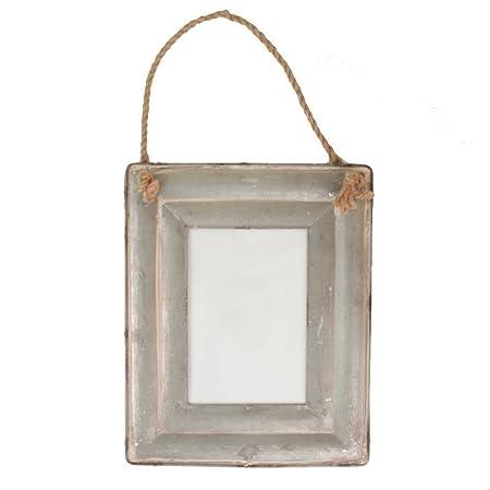 Galvanised Tin Picture Frame by Gisela Graham: Amazon.co.uk: Kitchen ...