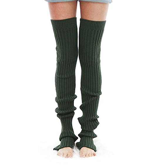 123591ec026ad TENDYCOCO Women's Winter Over Knee High Footless Socks Knit Warm Long Leg  Warmers Thigh High Socks
