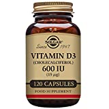 Solgar - Vitamin D3 (Cholecalciferol) 600 IU, 120 Vegetable Capsules