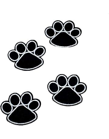 iTemer 10 huellas de gatos decoración de ropa calcomanías bordadas pegatinas de tela DIY parche