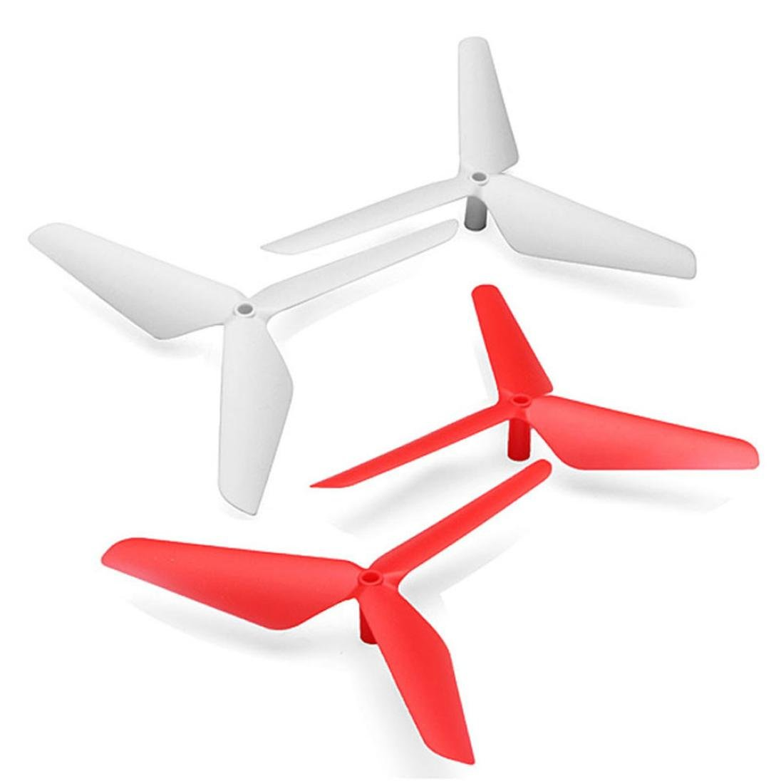 Gbell New 4PC 3 Blade Propeller for Syma X5 X5C X5SC X5SW Red & White (Red & White)