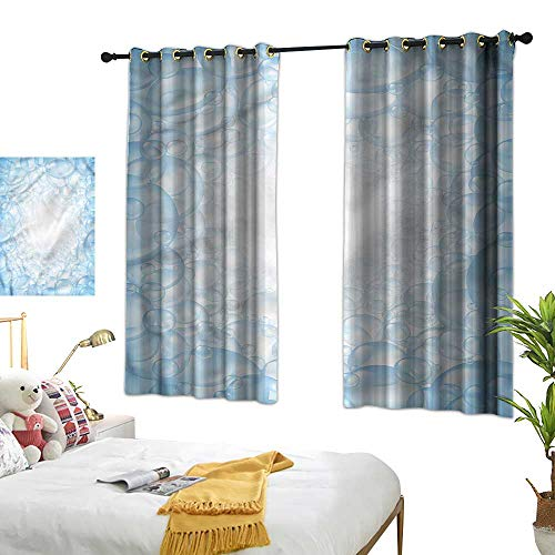 Warm Family Nursery Fashionable Curtains Bubble Bath Soap Fun Times for Living, Dining, Bedroom (Pair) 55