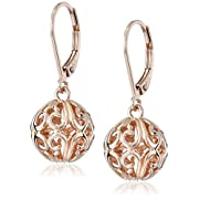 Amazon Lightning Deal 71% claimed: Sterling Silver Filigree Ball Dangle Earrings