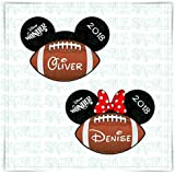 PERSONALIZED Disney Inspired Mickey Football Door Magnet. Handmade Football Disney Cruise Magnet. Disney Inspired Minnie Mickey Head Magnet For Stateroom Decor.