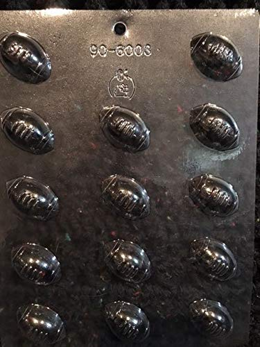 1-1/2'' BITE SIZE FOOTBALL CHOCOLATE MOLD molds cupcake