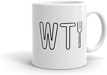 7b76015ae30 The Good Place WTFork White Mug - 11 oz. - Official Coffee Mug