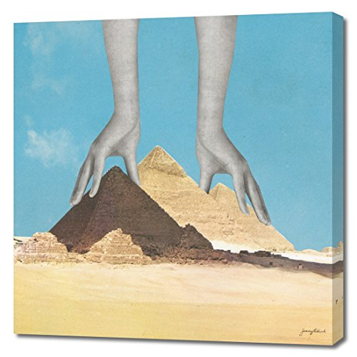 """Curioos M_CA00012750_GW """"The Surprising Truth About How the Pyramids Were Built"""" Canvas Print, Medium"""