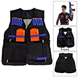 ZJchao Kid's Elite Tactical Vest with 20pcs Soft Foam Darts for Nerf N-strike Elite Series Not Including 2 Clips