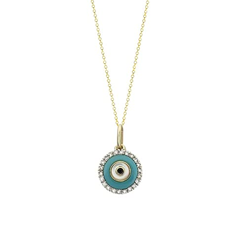 amazon com tousi evil eye pendant necklace nice diamond pendant