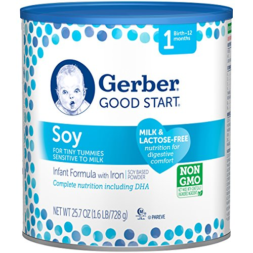 Gerber Good Start Soy Non-GMO Powder Infant Formula, Stage 1, 25.7 Ounce Newborn Baby Formula