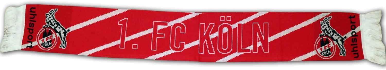 uhlsport Sciarpa da uomo FC K/öln rosso//bianco standard articolo per tifosi