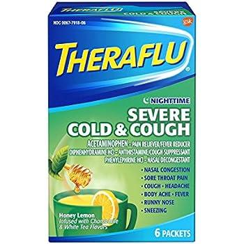 Amazon Theraflu Nighttime Severe Cold Cough Relief Medicine