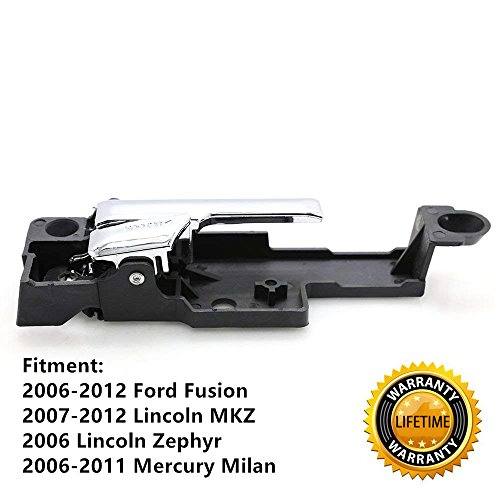 Inside Interior Door Handle Chrome Front Passenger Side for 2006-2012 Ford Fusion 2007-2012 Lincoln MKZ 2006 Lincoln Zephyr 2006-2011 Mercury Milan - Replaces # 6E5Z5422600A,6E5Z-5422600-A (Right)