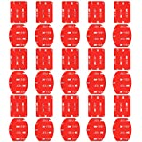 Neewer 15-Pack Double Side Helmet Adhesive Sticker Flat and Curved Pads Mounts for GoPro Hero 7 6 5 4 + 3 3 2 1 SJ4000 5000 6000 DBPOWER AKASO VicTsing APEMAN WiMiUS Rollei Campark Sony Sports DV
