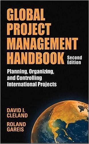 amazon com global project management handbook planning organizing
