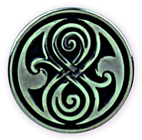 DOCTOR WHO TV Series Seal of Gallifrey (Rassilon) - UK Imported Metal Lapel Pin