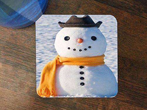 Cheerful Snowman Silicone Drink Beverage Coaster 4 (Snowman Beverage)
