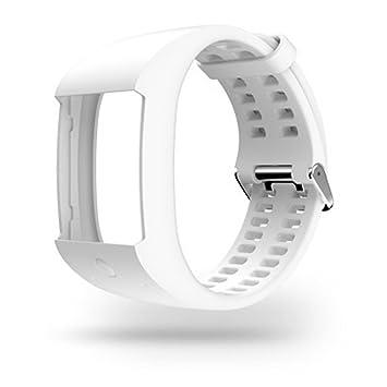 Polar M600 – Bracelet en Silicone, Taille S, Couleur Noir M Blanc