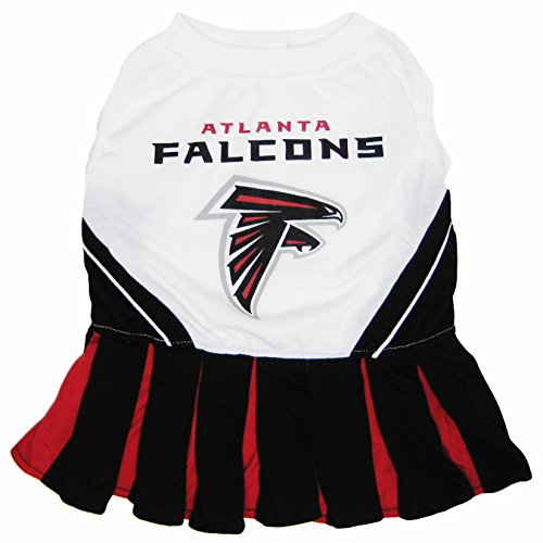 [Atlanta Falcons NFL Cheerleader Dress For Dogs - Size Medium] (Chicago Halloween Costume Ideas)