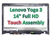 Lenovo Yoga 3 1470 Replacement TABLET LCD Screen 14.0'' Full-HD LED DIODE (Substitute Only. Not a Laptop ) (5D10H35588 5DM0G74715 TOUCH ASSEMBLY)