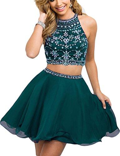 Green 2 Piece Prom Dress: Amazon.com