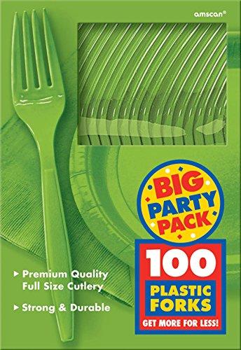 - Amscan 43600.53 Big Party Pack Premium Plastic Forks, 7.5