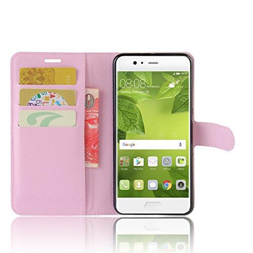 Manyip Funda Huawei P10 Plus,Caja del teléfono del cuero,Protector de Pantalla de Slim Case Estilo Billetera con Ranuras para Tarjetas, Soporte Plegable, Cierre Magnético(JFC5-17) B