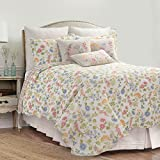 C&F Home Jeanette Mini Set Queen or Full Size Reversible Quilt 92 X 90 Inch and 2 Standard Shams