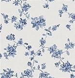 FD21762 - Empress Room Festival Floral Blue Fine Decor Wallpaper