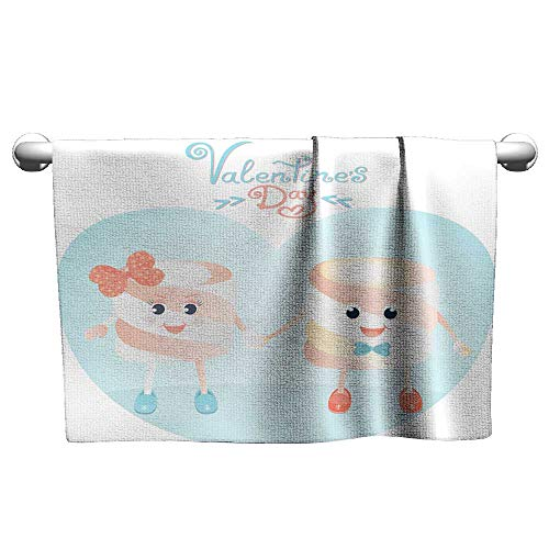 - Tankcsard Funny Marshmallows Greeting Cards for Valentine s Day,Hooded Towel for Toddler Girl