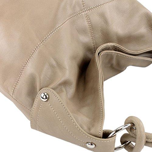 T61 sac nappa sac Helltaupe main cuir sac T61 Sac sac à cuir à italien femme pour bandoulière qzOAZXw