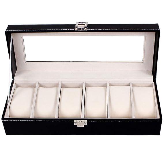 ccfddf211 FL0171 - Caja para 6 relojes (piel sintética): Amazon.es: Hogar
