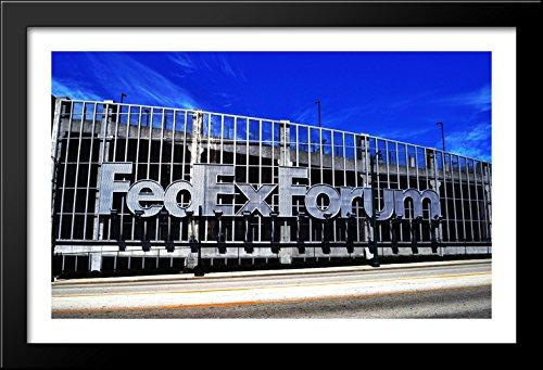 FedEx Forum 40x26 Large Black Wood Framed Print Art - Home of the Memphis - Galleria Memphis